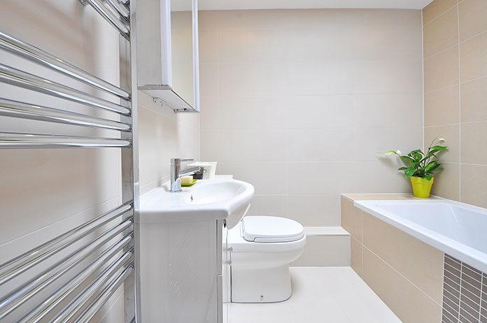 Łazienka w eleganckim domu
